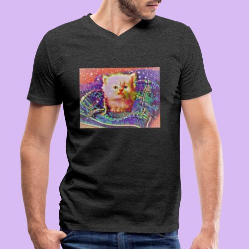 Gattino scintillante nella tasca dei jeans - T-shirt ecologica da uomo con scollo a V di Stanley & Stella
