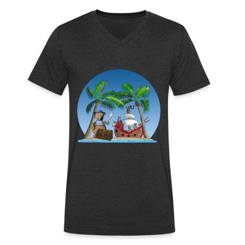 Pirat - Piratenschiff - Schatzinsel - Männer Bio-T-Shirt mit V-Ausschnitt von Stanley & Stella