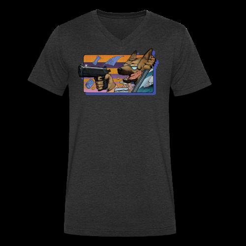 Gun Dog - bez napisu - Ekologiczna koszulka męska z dekoltem w serek Stanley & Stella