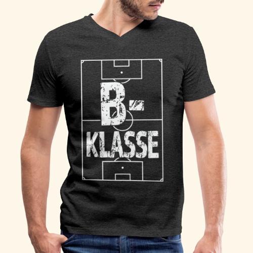 B-Klasse im Fußballfeld - Männer Bio-T-Shirt mit V-Ausschnitt von Stanley & Stella