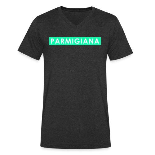 Parmigiana Style Green - T-shirt ecologica da uomo con scollo a V di Stanley & Stella