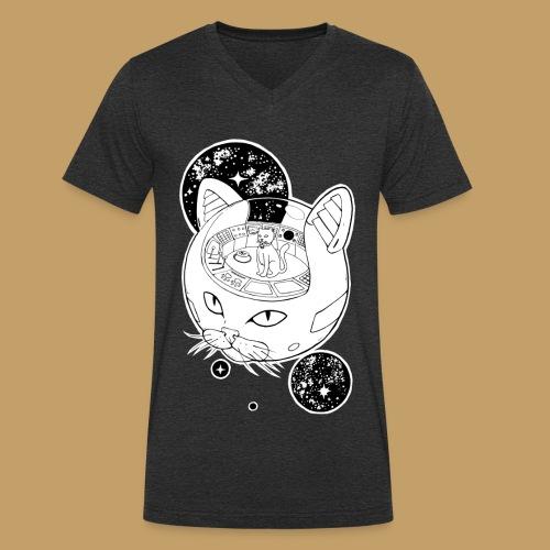 Kosmiczny Kot Imperator - Ekologiczna koszulka męska z dekoltem w serek Stanley & Stella