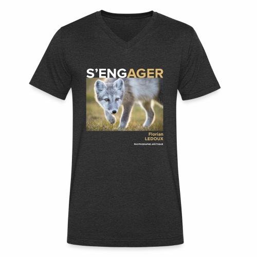 1 Achat = 1 Don à l'association ArcticArtsProject - T-shirt bio col V Stanley & Stella Homme