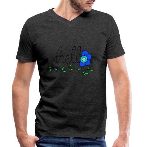 Hello Blume. - Männer Bio-T-Shirt mit V-Ausschnitt von Stanley & Stella