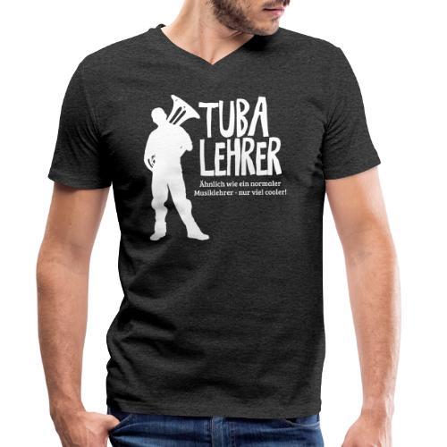 Tuba Lehrer | Tubist - Männer Bio-T-Shirt mit V-Ausschnitt von Stanley & Stella