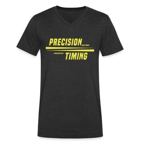 PRECISION & TIMING - Økologisk Stanley & Stella T-shirt med V-udskæring til herrer