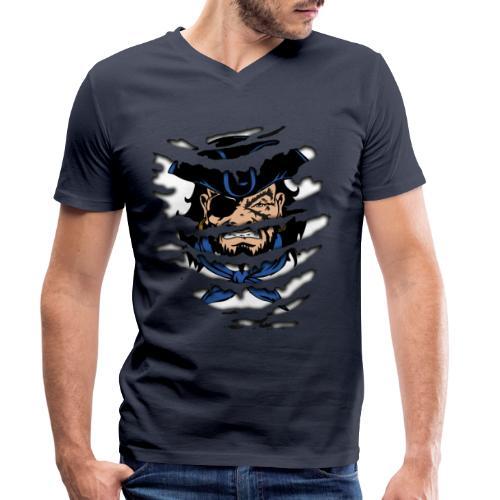 Pirates inside - T-shirt ecologica da uomo con scollo a V di Stanley & Stella