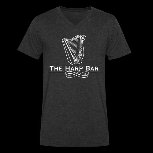 Logo The Harp Bar Paris - T-shirt bio col V Stanley & Stella Homme