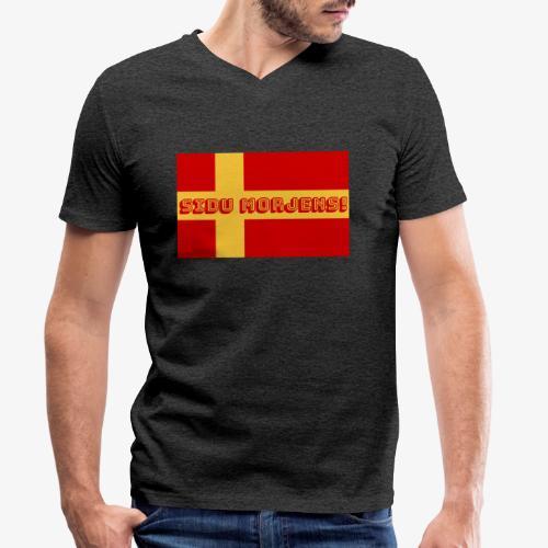 Sidu morjens! flagga - Ekologisk T-shirt med V-ringning herr från Stanley & Stella
