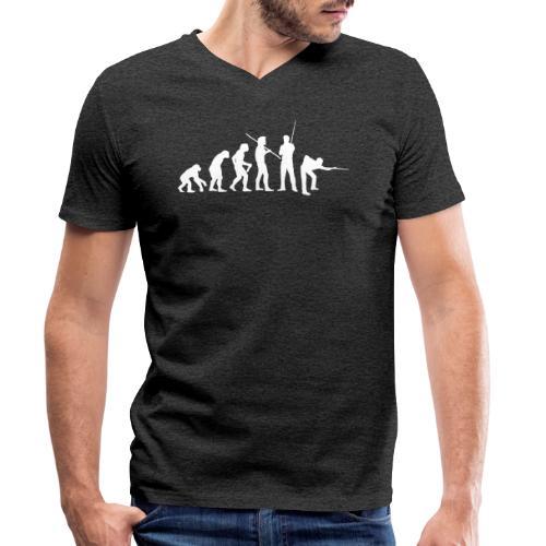 Snooker Evolution - SNKRSHRT - Men's Organic V-Neck T-Shirt by Stanley & Stella
