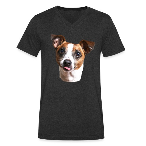 Jack Russell - Men's Organic V-Neck T-Shirt by Stanley & Stella