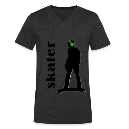 skater green copia - Camiseta ecológica hombre con cuello de pico de Stanley & Stella