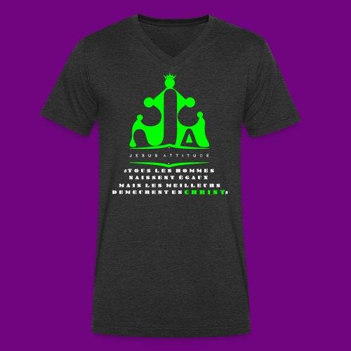 tous les hommes naissent égaux... - T-shirt bio col V Stanley & Stella Homme