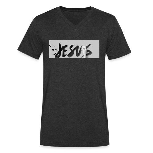 Jesus - Männer Bio-T-Shirt mit V-Ausschnitt von Stanley & Stella