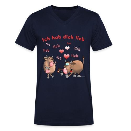 Liebe - Heiratsantrag - Männer Bio-T-Shirt mit V-Ausschnitt von Stanley & Stella
