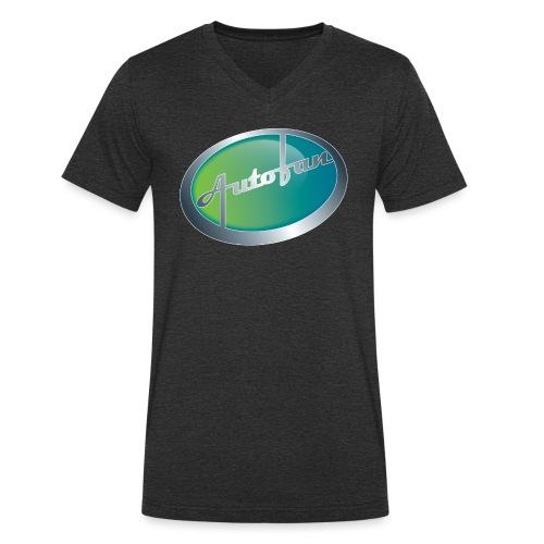 Autofan groen - Mannen bio T-shirt met V-hals van Stanley & Stella