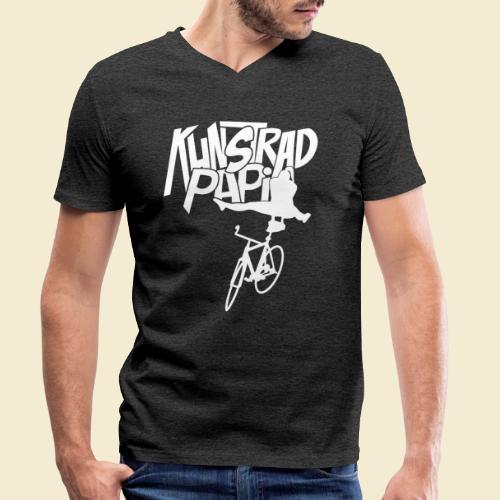 Kunstrad | Artistic Cycling - Kunstrad Papi white - Männer Bio-T-Shirt mit V-Ausschnitt von Stanley & Stella