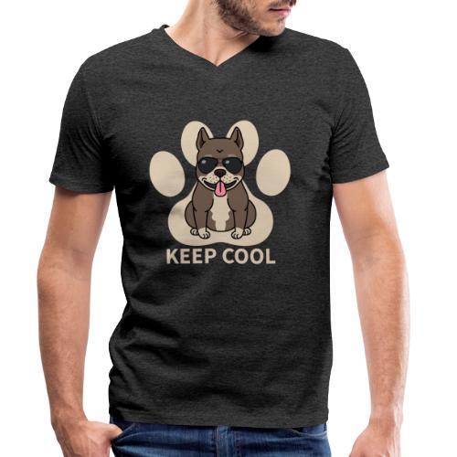 keep cool - Männer Bio-T-Shirt mit V-Ausschnitt von Stanley & Stella