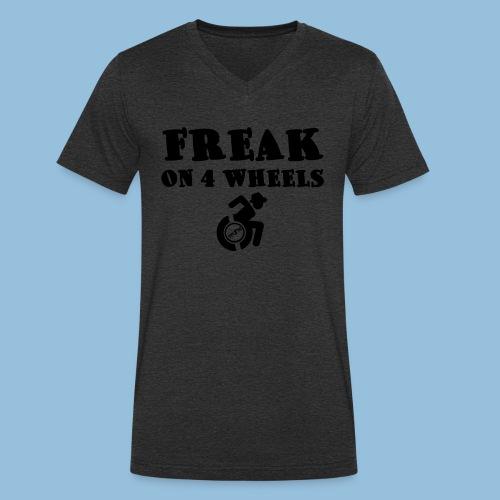 Freakon4wheels2 - Mannen bio T-shirt met V-hals van Stanley & Stella