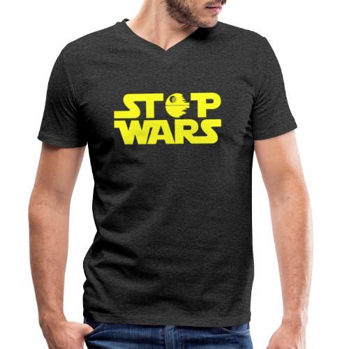 Stop Wars - Camiseta ecológica hombre con cuello de pico de Stanley & Stella