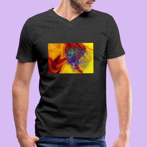 Leopardo surreale - T-shirt ecologica da uomo con scollo a V di Stanley & Stella