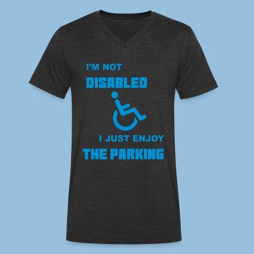 notdisabled1 - Mannen bio T-shirt met V-hals van Stanley & Stella