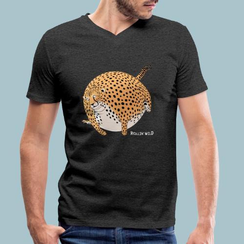 Rollin'Wild - Cheetah - Men's Organic V-Neck T-Shirt by Stanley & Stella