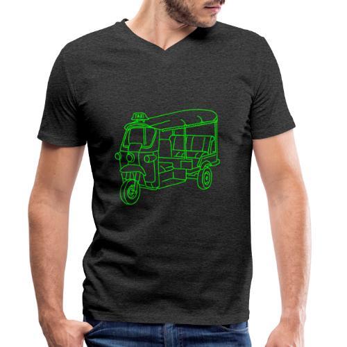 Tuk-Tuk, Taxi aus Indien - Männer Bio-T-Shirt mit V-Ausschnitt von Stanley & Stella