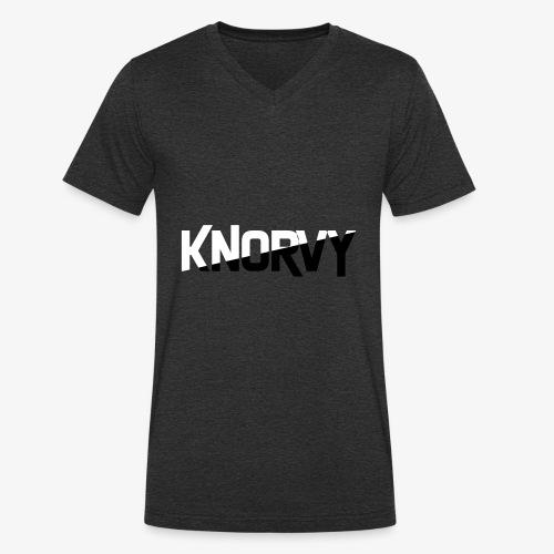 KNORVY - Mannen bio T-shirt met V-hals van Stanley & Stella