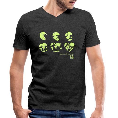 We're Still Moving - Continental Drift - Men's Organic V-Neck T-Shirt by Stanley & Stella