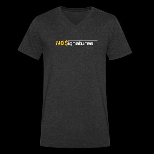 N0$ignatures (nessuna firma) - T-shirt ecologica da uomo con scollo a V di Stanley & Stella