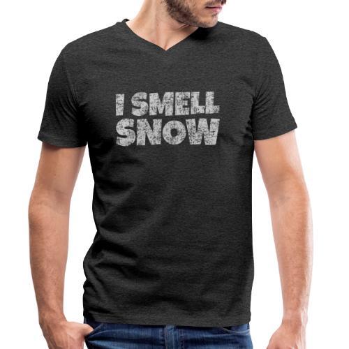 I Smell Snow (Grau) Schnee, Winter, Wintersport - Männer Bio-T-Shirt mit V-Ausschnitt von Stanley & Stella