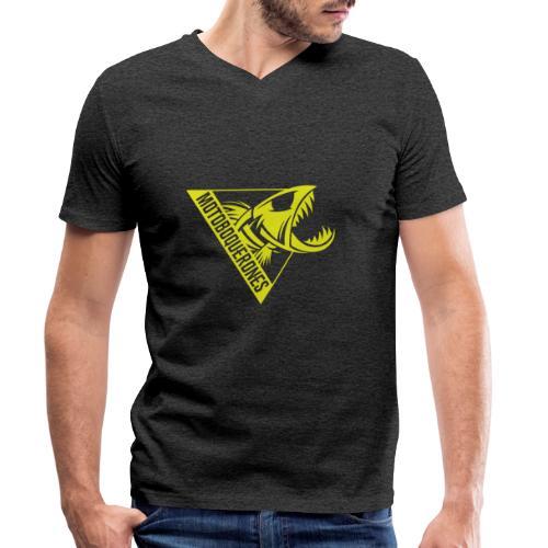 Logo Motoboquerones amarillo - Camiseta ecológica hombre con cuello de pico de Stanley & Stella