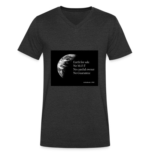 earth for sale - Men's Organic V-Neck T-Shirt by Stanley & Stella