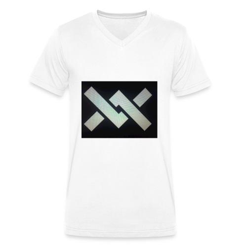 Original Movement Mens black t-shirt - Men's Organic V-Neck T-Shirt by Stanley & Stella