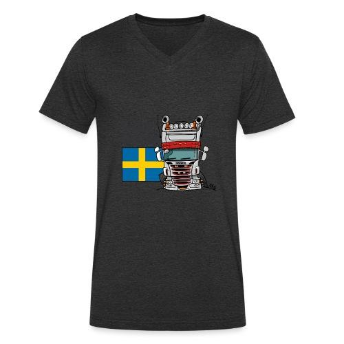 Made in Sweden - Mannen bio T-shirt met V-hals van Stanley & Stella