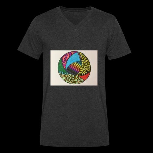circle corlor - Økologisk Stanley & Stella T-shirt med V-udskæring til herrer