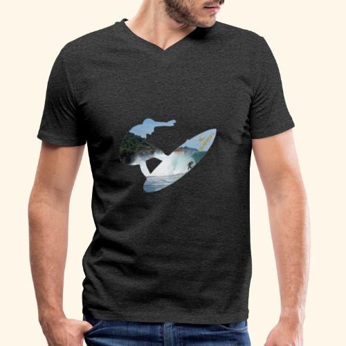 Mundaka surf limited edition - Camiseta ecológica hombre con cuello de pico de Stanley & Stella