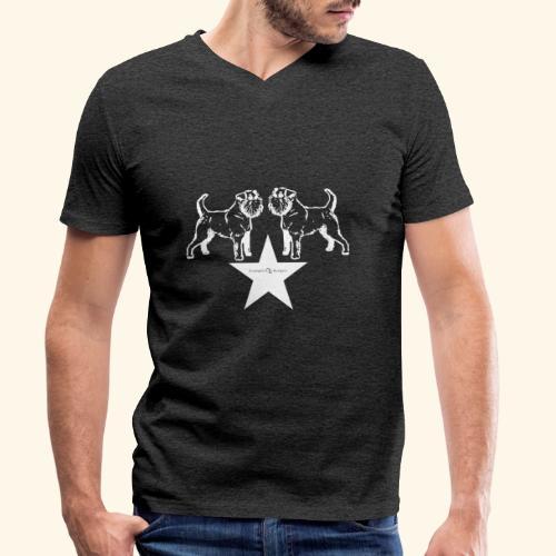 Brussels Griffon star - T-shirt bio col V Stanley & Stella Homme