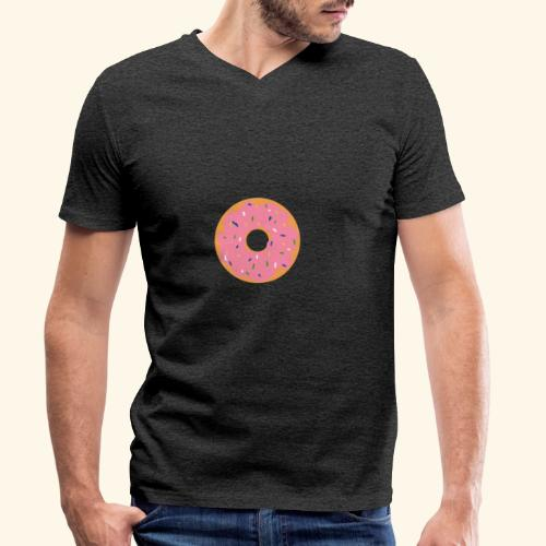 Donut-Shirt - Männer Bio-T-Shirt mit V-Ausschnitt von Stanley & Stella