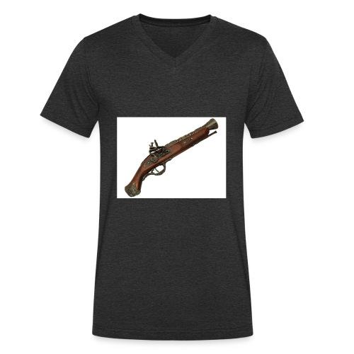Pistola - Camiseta ecológica hombre con cuello de pico de Stanley & Stella