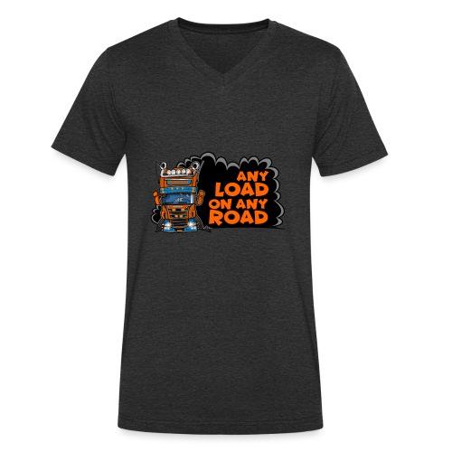 0323 any load on any road - Mannen bio T-shirt met V-hals van Stanley & Stella