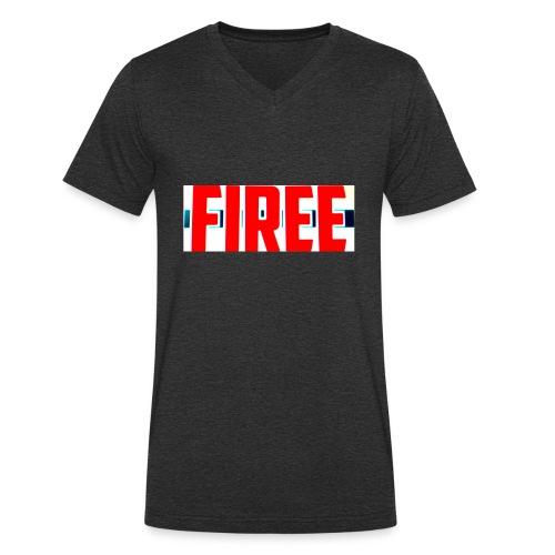 FIREE - Men's Organic V-Neck T-Shirt by Stanley & Stella