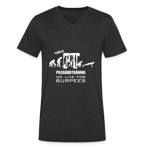 Pilegård Träning - Ekologisk T-shirt med V-ringning herr från Stanley & Stella