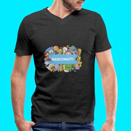 Bancomatti DOODLE 1 - T-shirt ecologica da uomo con scollo a V di Stanley & Stella