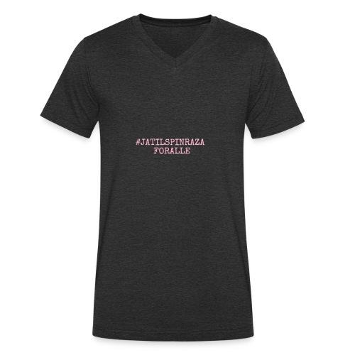 #jatilspinraza - rosa - Økologisk T-skjorte med V-hals for menn fra Stanley & Stella