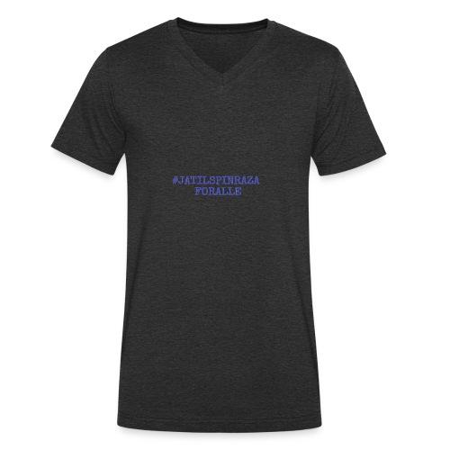 #jatilspinraza - blå - Økologisk T-skjorte med V-hals for menn fra Stanley & Stella