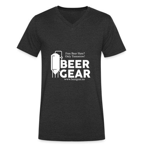 Beer Gear free Beer White - Økologisk T-skjorte med V-hals for menn fra Stanley & Stella