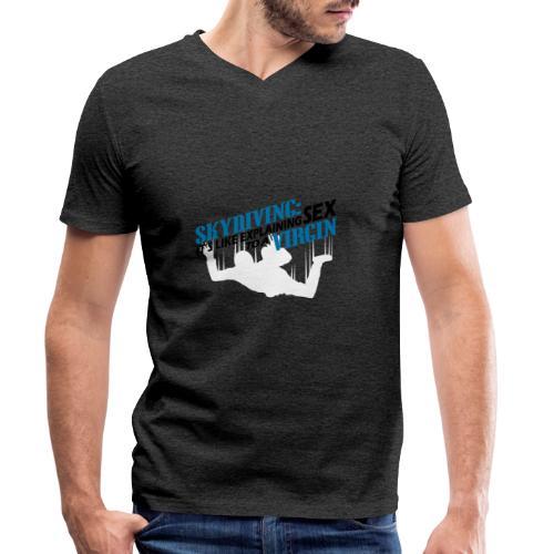 skydiving - Mannen bio T-shirt met V-hals van Stanley & Stella