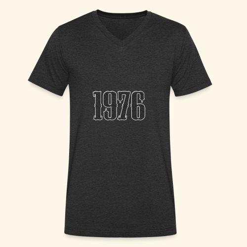 1976 - Mannen bio T-shirt met V-hals van Stanley & Stella